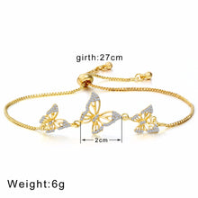 Load image into Gallery viewer, Gold Butterfly Bracelet