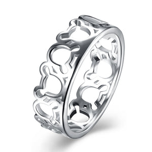 925 Sterling Silver Teddy Ring