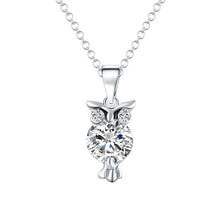 Load image into Gallery viewer, Crystal Owl Necklace