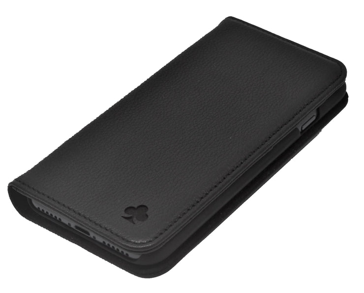 Samsung Galaxy S20 Leather Case. Premium Slim Genuine Leather Stand Case/Cover/Wallet (Black)