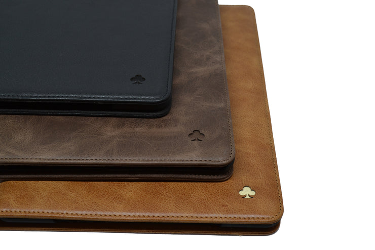 "iPad Pro 12.9"" 3rd/4th Generation 2018/2020 Release Leather Case. Premium Genuine Leather Stand/Cover/Flip Case (Tan)"