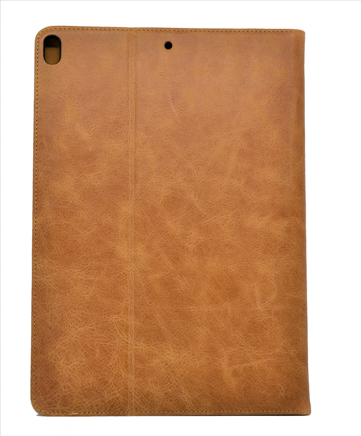 "iPad Air 10.5"" 3rd Generation 2019 Release Leather Case. Premium Genuine Leather Stand/Cover/Flip Case (Tan)"