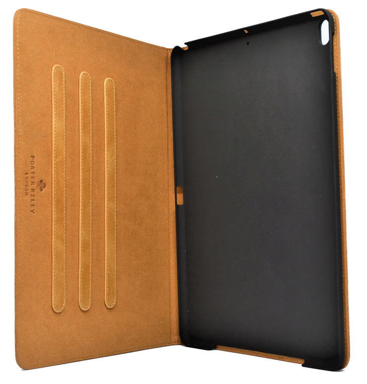 "iPad Pro 11"" 2018 Release Leather Case. Premium Genuine Leather Stand/Cover/Flip Case (Tan)"