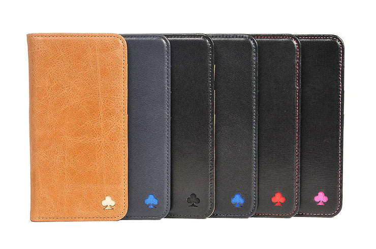 Huawei P30 Leather Case. Premium Slim Genuine Leather Stand Case/Cover/Wallet (Tan)