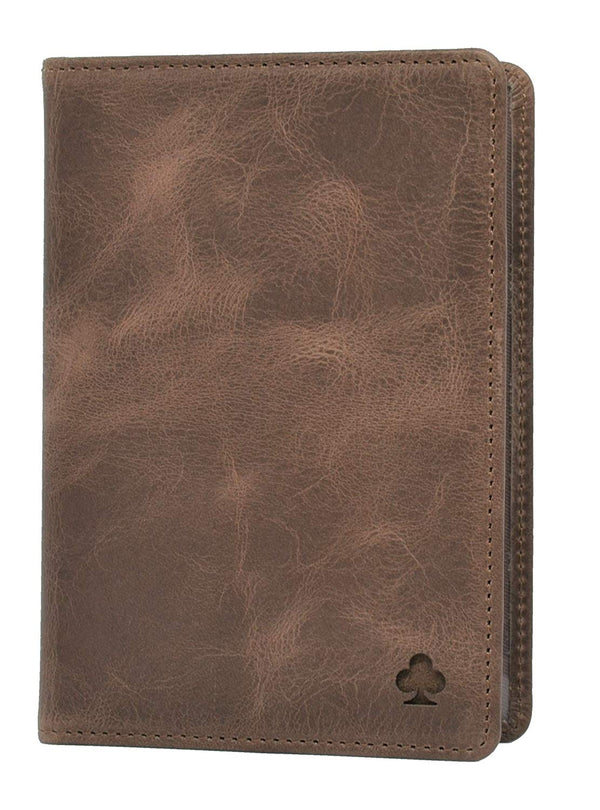 Premium Leather Passport Holder/Case/Cover/Travel Wallet (Dark Brown)