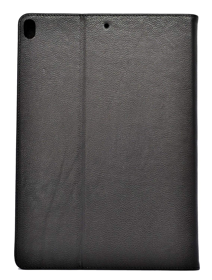 iPad Mini 4 Leather Case. Premium Slim Genuine Leather Stand Case/Cover/Wallet (Pure Black)