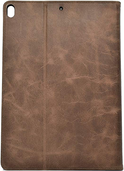 iPad Mini 4 Leather Case. Premium Slim Genuine Leather Stand Case/Cover/Wallet (Chocolate Brown)