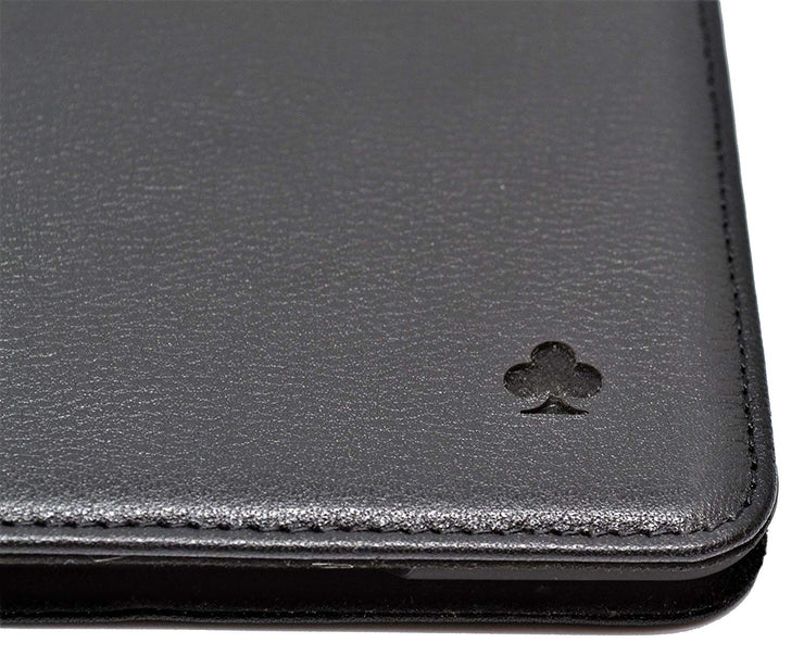 "iPad Pro 10.5"" (iPad Pro 2) Leather Case. Premium Slim Genuine Leather Stand Case/Cover/Wallet (Pure Black)"