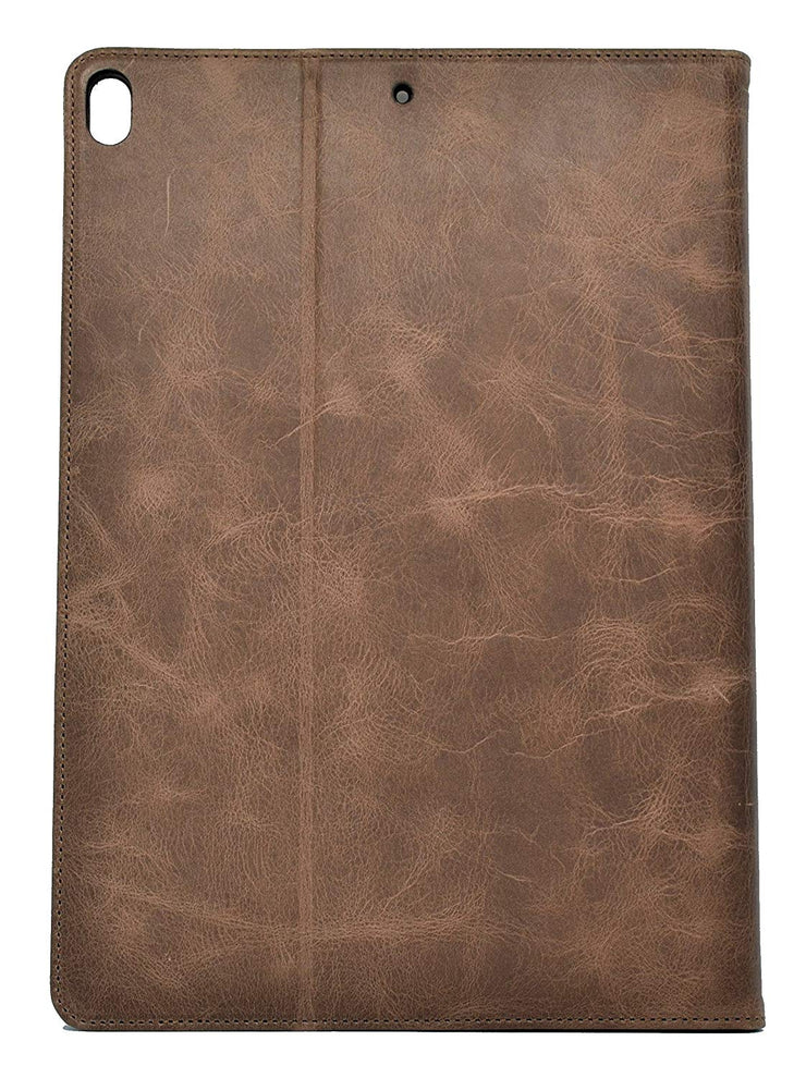 "iPad Pro 10.5"" (iPad Pro 2) Leather Case. Premium Slim Genuine Leather Stand Case/Cover/Wallet (Chocolate Brown)"