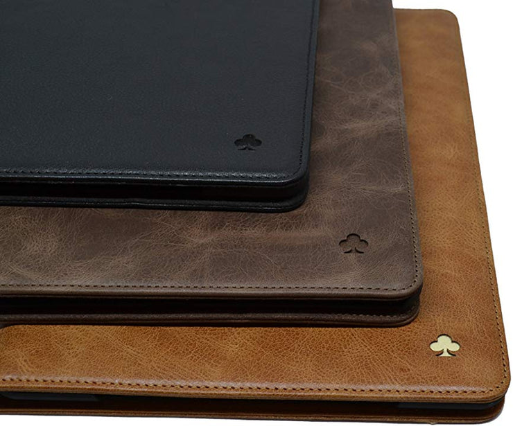 "Porter Riley - Leather Case for iPad 9.7"" 2017/2018 5th and 6th Generation. Premium Genuine Leather Stand/Cover/Flip Case (Chocolate Brown)"