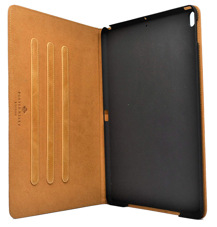 "Porter Riley - Leather Case for iPad 9.7"" 2017/2018 5th and 6th Generation. Premium Genuine Leather Stand/Cover/Flip Case (Tan)"