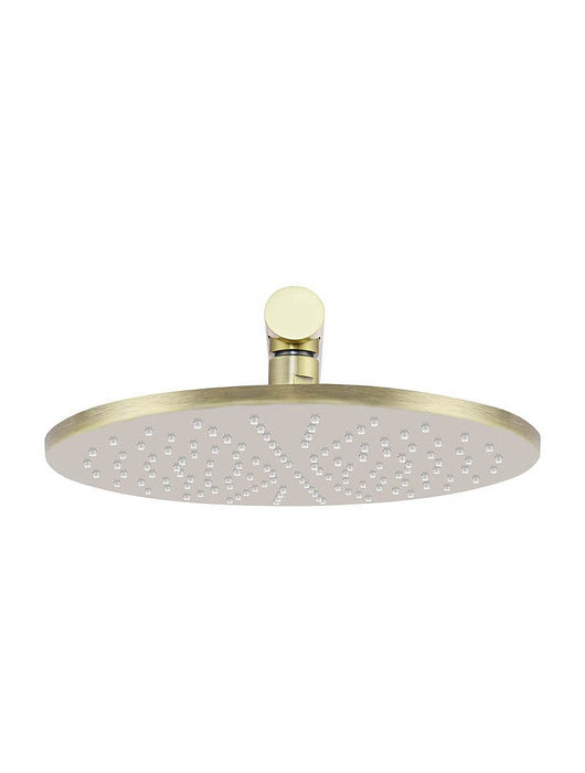 Meir Round Wall Shower 300mm rose, 400mm arm - Tiger Bronze