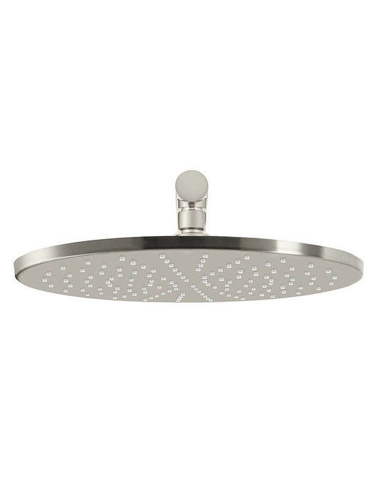 Meir Round Wall Shower 300mm rose, 400mm arm - Brushed Nickel