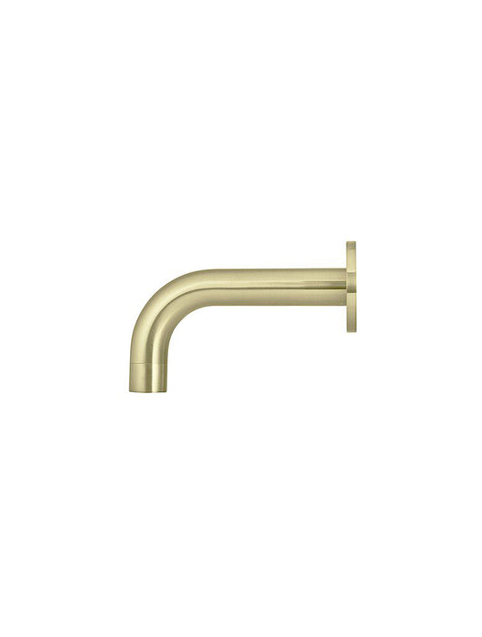 Meir Round Curved Basin Wall Spout 130mm - Tiger Bronze