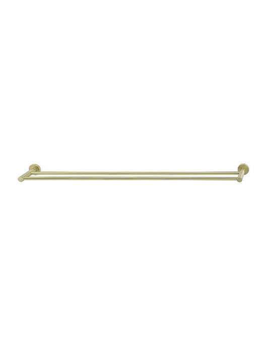 Meir Round Double Towel Rail 900mm - Tiger Bronze