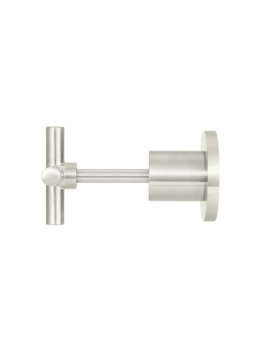 Meir Cross Handle Jumper Valve Wall Top Assemblies - PVD Brushed Nickel