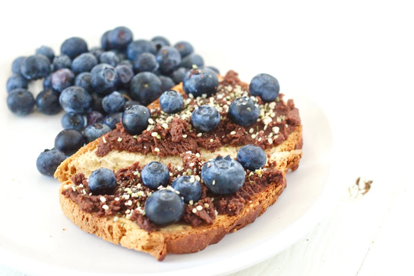 Nutreat On Toast with Blueberries and Seeds