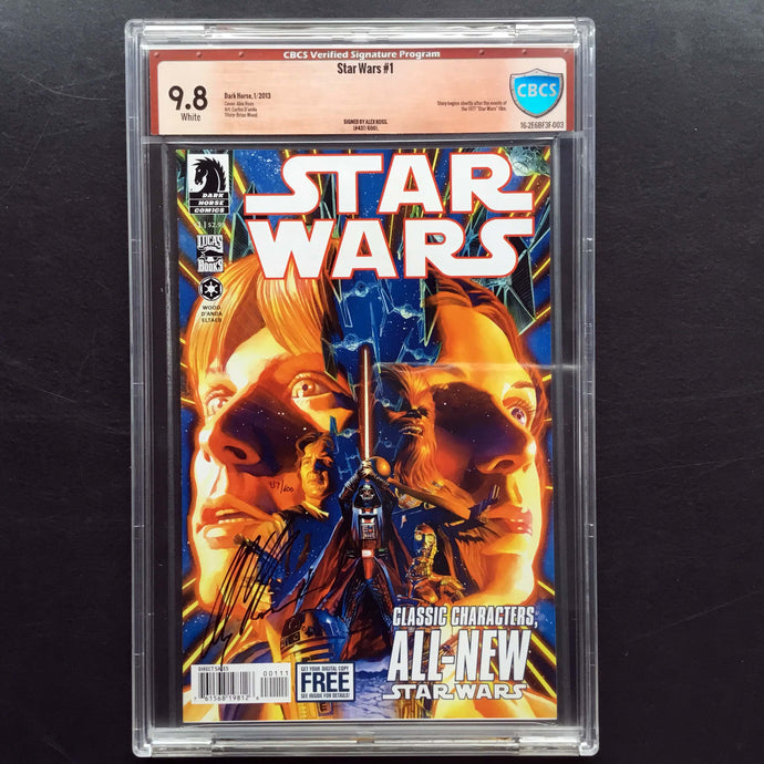 2013 Dark Horse STAR WARS #1 CBCS 9.8 VSP Signed by Alex Ross #437/600 Rare