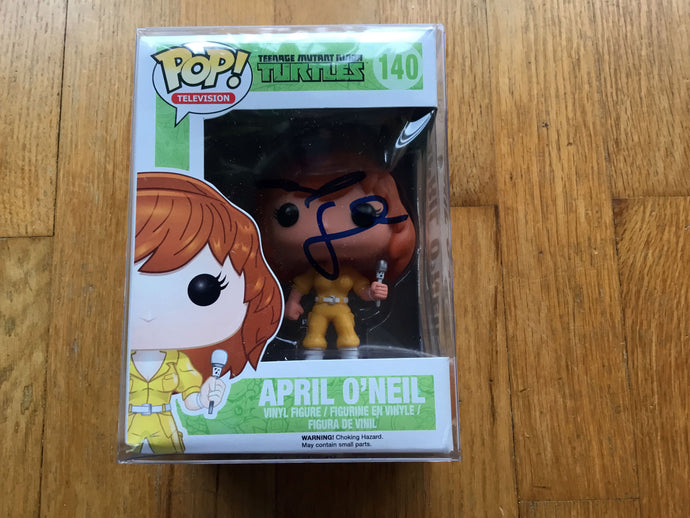 2014 Funko POP! Vinyl Ninja Turtles #140 APRIL O'NEIL Signed MEGAN FOX
