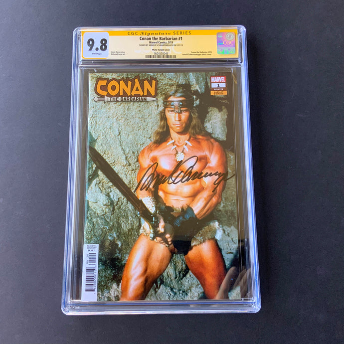 2019 Marvel CONAN THE BARBARIAN #1 CGC 9.8 SS Signed Arnold Schwarzenegger NM