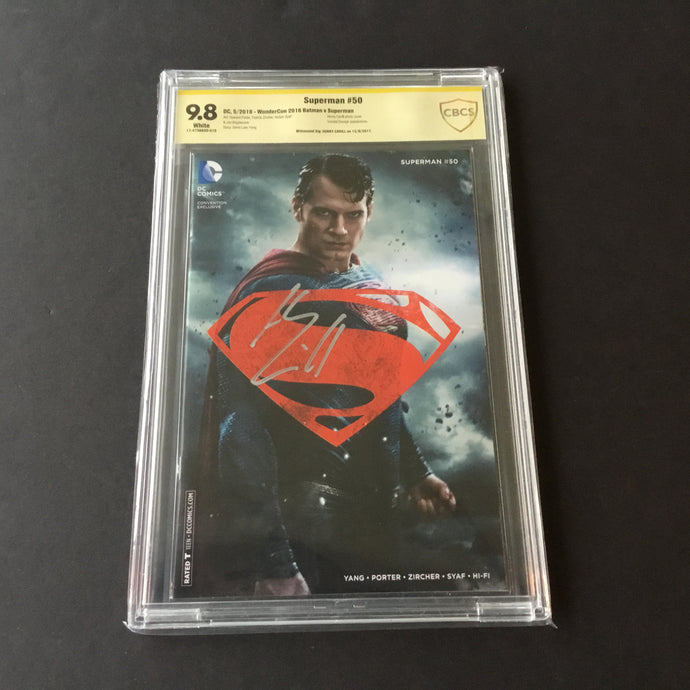 2016 DC Comics SUPERMAN #50 Wondercon Excl CBCS 9.8 SS Signed by Henry Cavill