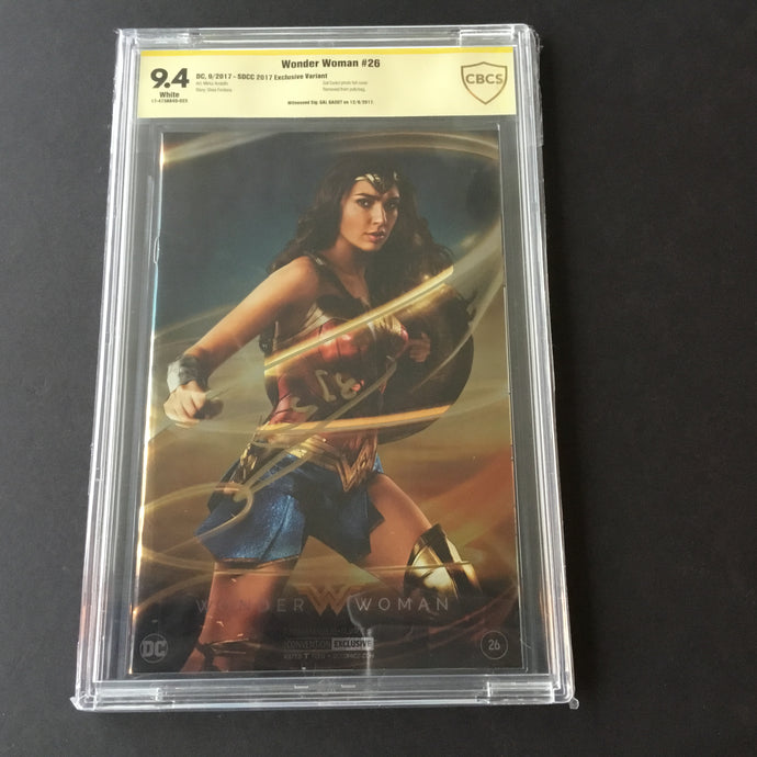 2017 DC Comics WONDER WOMAN #26 SDCC Exclusive CBCS 9.4 SS Signed by Gal Gadot