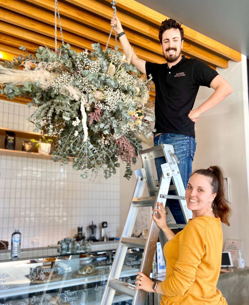 Hanging Flower Structures & Floral Installations
