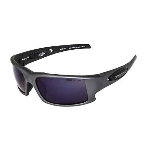 Amphibia Polarized Sunglasses - DEPTHCHARGE Gun Metal/Amber Wave