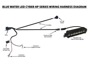 BLUEWATERLED Cyber Systems LED Wiring Harness / Switch