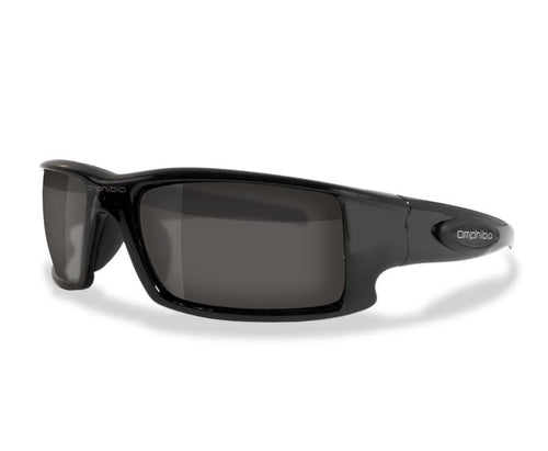 Amphibia Polarized Sunglasses - DEPTHCHARGE Matte Black/Sandstorm
