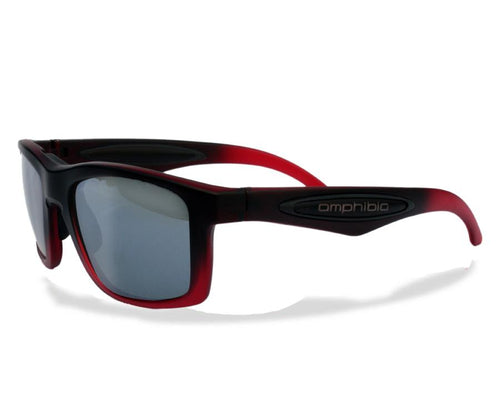 Amphibia LOTUS Polarized Sunglasses - Gradient Red and Black / Vapor ice