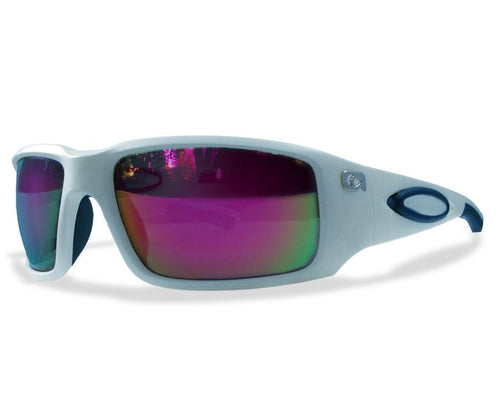 Amphibia ECLIPSE Polarized Sunglasses - Matte White / Red Shock