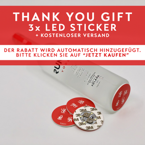 THANK YOU GIFT | 3x RUNES LED BOTTLE STICKER
