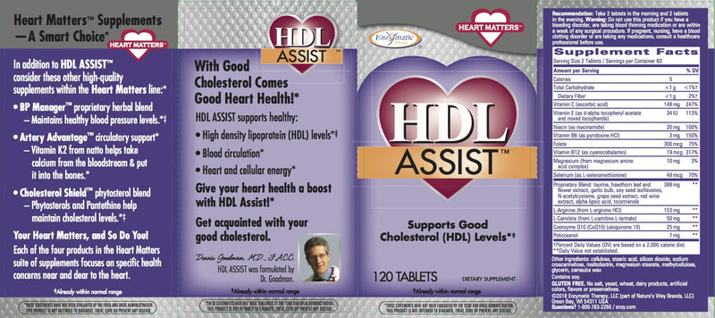 Enzymatic HDL Assit 120 Tabs