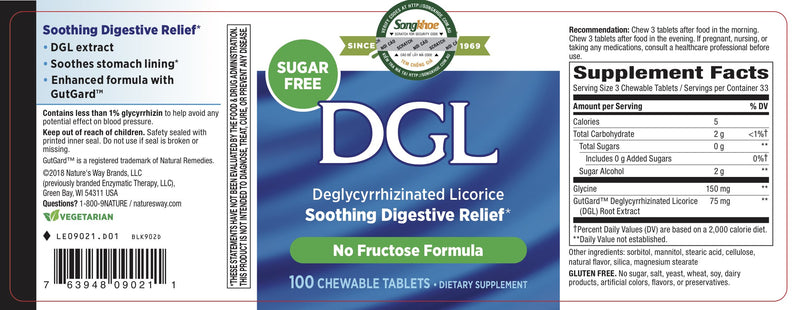 Nature's Way DGL 100 Chew Tabs