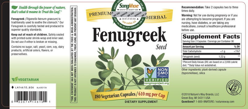 Nature's Way Fenugreek Seed 180 vcaps