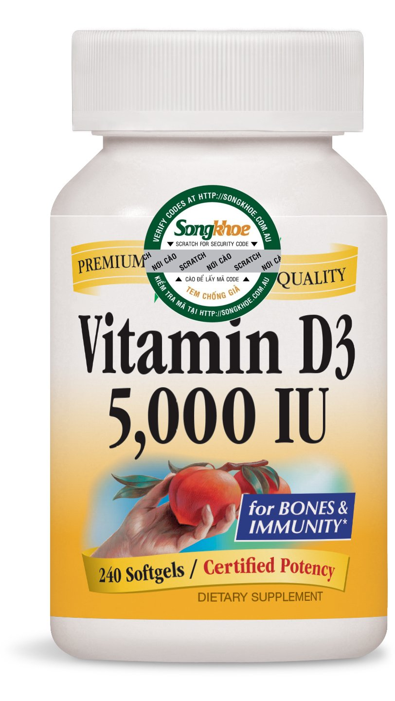 Nature's Way Vitamin D3 5,000IU 240 softgels