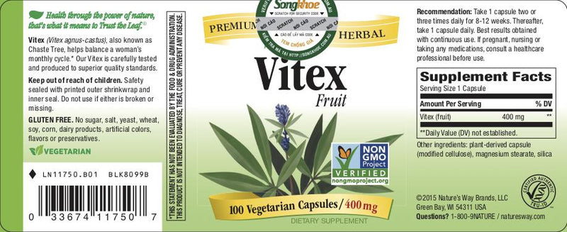 Nature's Way Vitex 100 vcaps