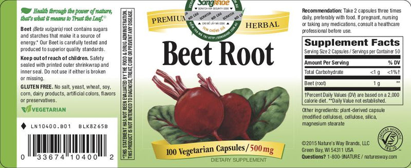Nature's Way Beet Root 100 vcaps