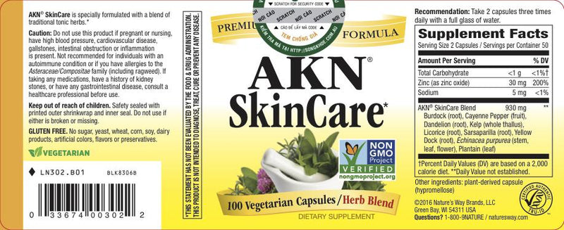Nature's Way AKN SkinCare 100 Vcaps