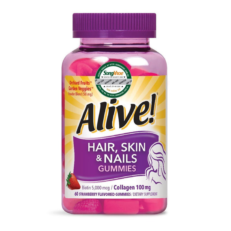 Nature's Way Hair Skin & Nail Gummy 60 CT