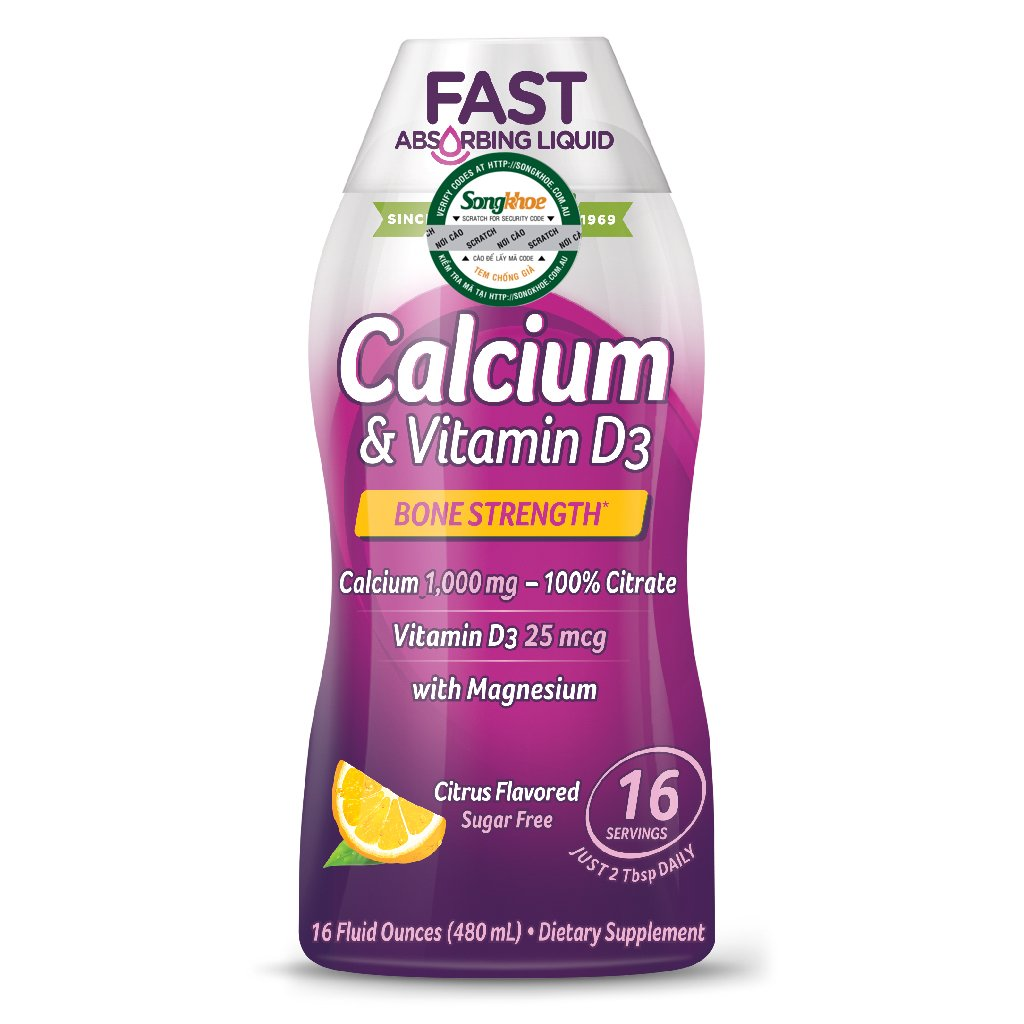 Nature's Way Calcium & Vitamin D Liquid 16 oz (480ml)
