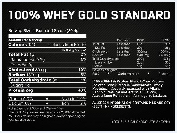 Optimum Nutrition 100% Gold Standard Whey 10lb