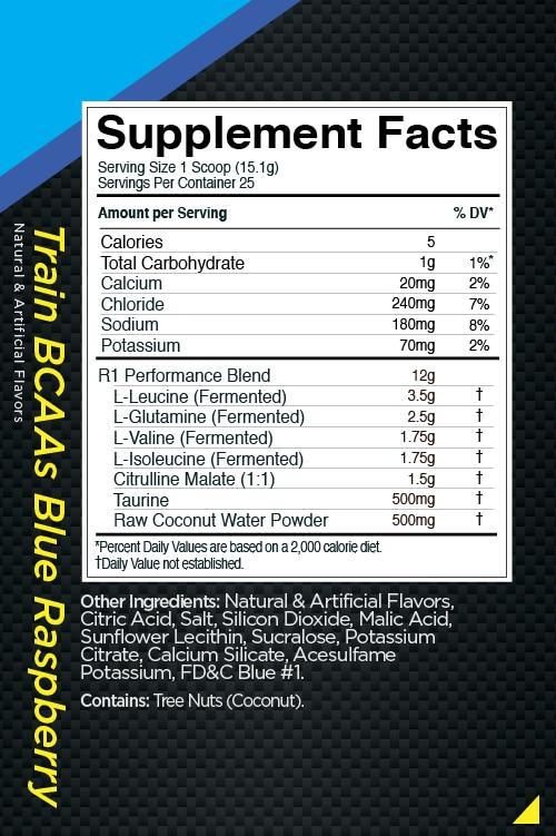 R1 Train BCAAs, 50 Servings - 755 g