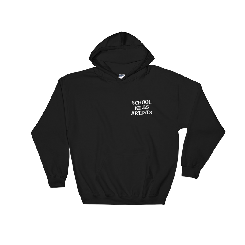 Wave Logo - Hoodie - School Kills Artists