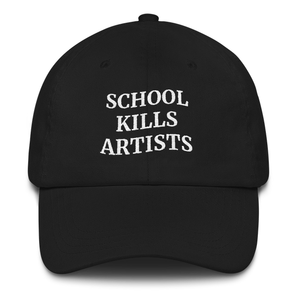 School Kills Artists - Embroidered Cap - School Kills Artists
