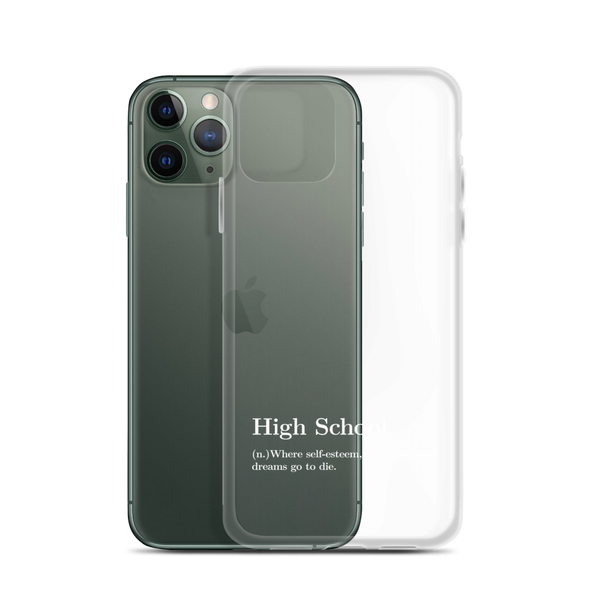 "High School Definition ""White"" - Phone Case for iPhone - School Kills Artists"