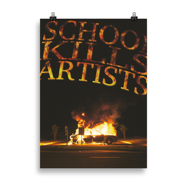 Burn it - Art Print - School Kills Artists