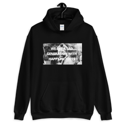 WE ARE A SAD GENERATION WITH HAPPY PICTURES - Hoodie - School Kills Artists