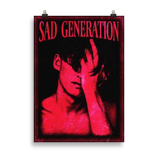 Sad Generation - Art Print - School Kills Artists